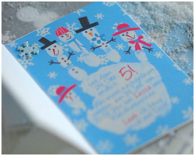 Snowman Invitation