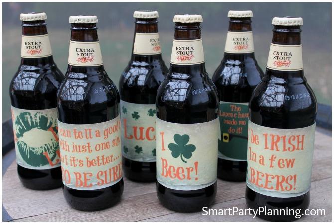 homebrew beer labels displayed