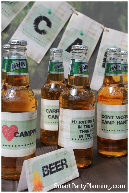 Camping Party Beer Printables