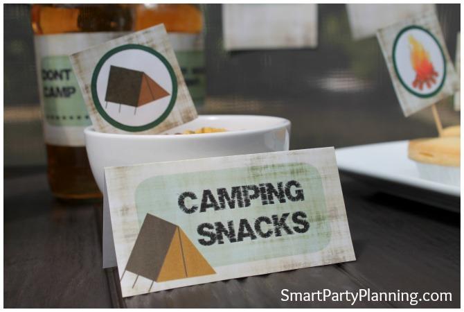 Camping Food Tent Labels