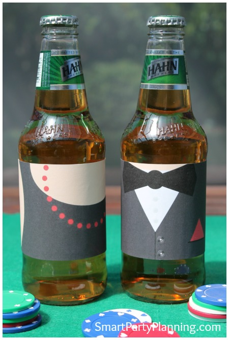 Casino Theme Party Beer Labels