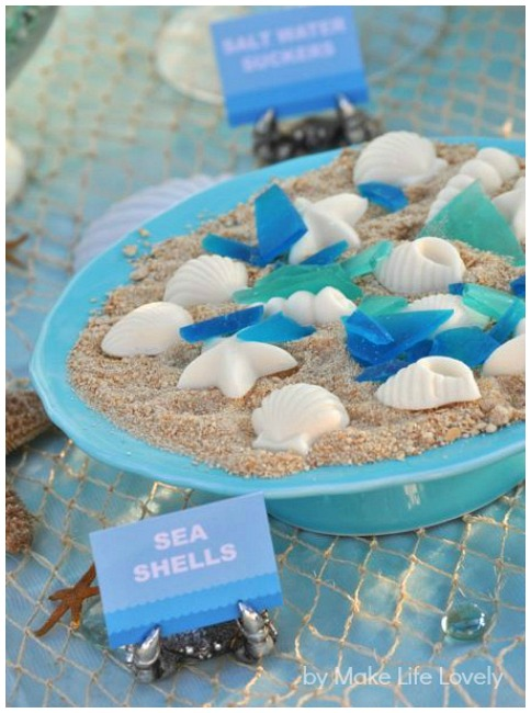 Under the sea party chocolate shells