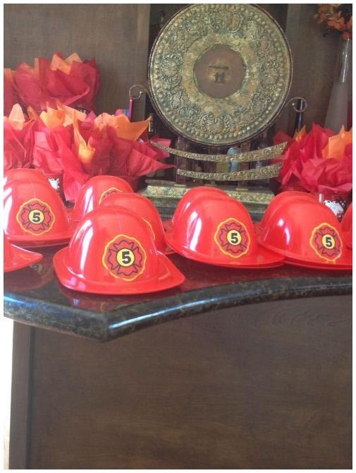firetruck birthday party hats