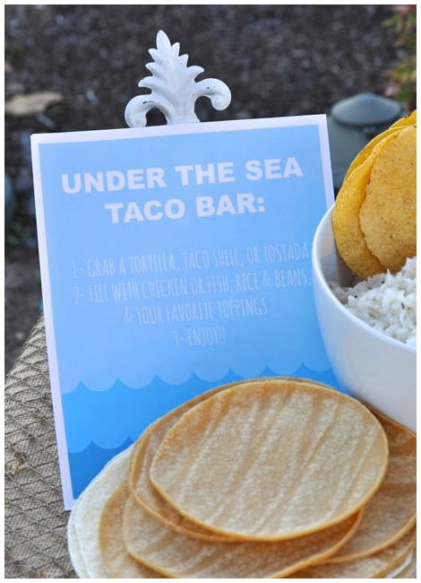 Under the sea taco bar