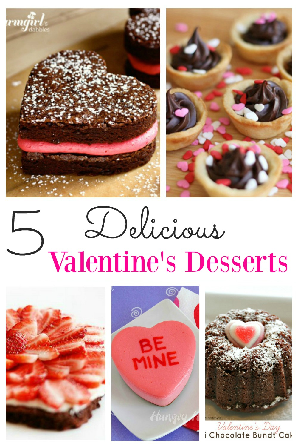 """This selection of Valentine's desserts is the perfect way to say """"I Love You"""".  There is no need to struggle looking for dessert recipes when  any one of these would be an absolute winner.   Valentine's day will not be complete without one of these delights."""