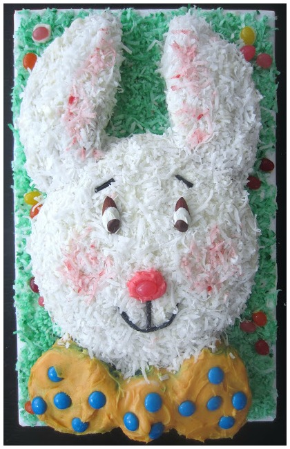 Funny Bunny Cake Face