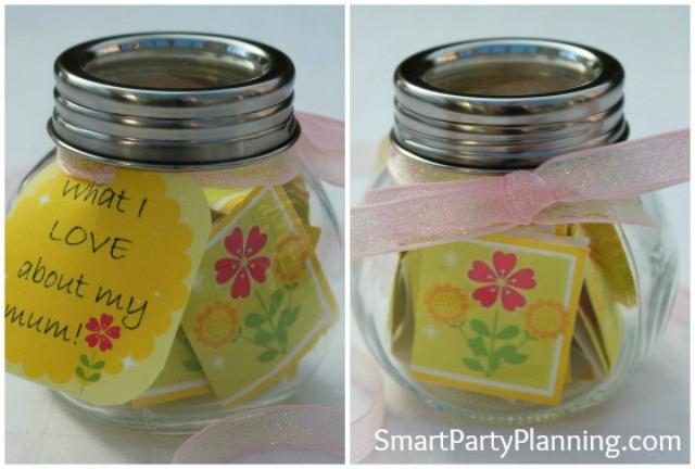 Mother's Day Craft Appreciation Jar