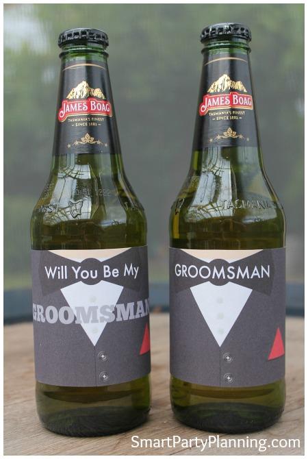 Groomsman Beer Labels