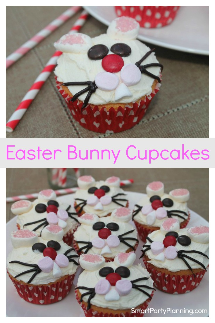 How to make easy Ester Bunny cupcakes