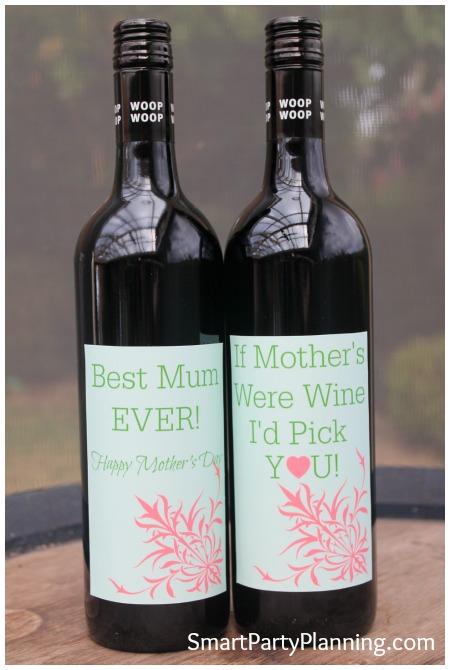 Best mum ever wine labels