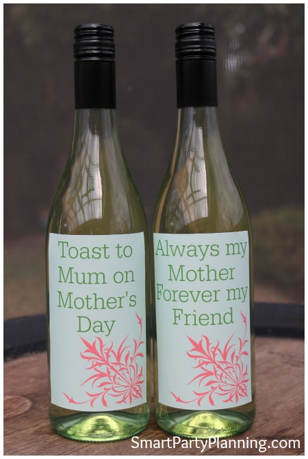 Toast to mum on mother's day