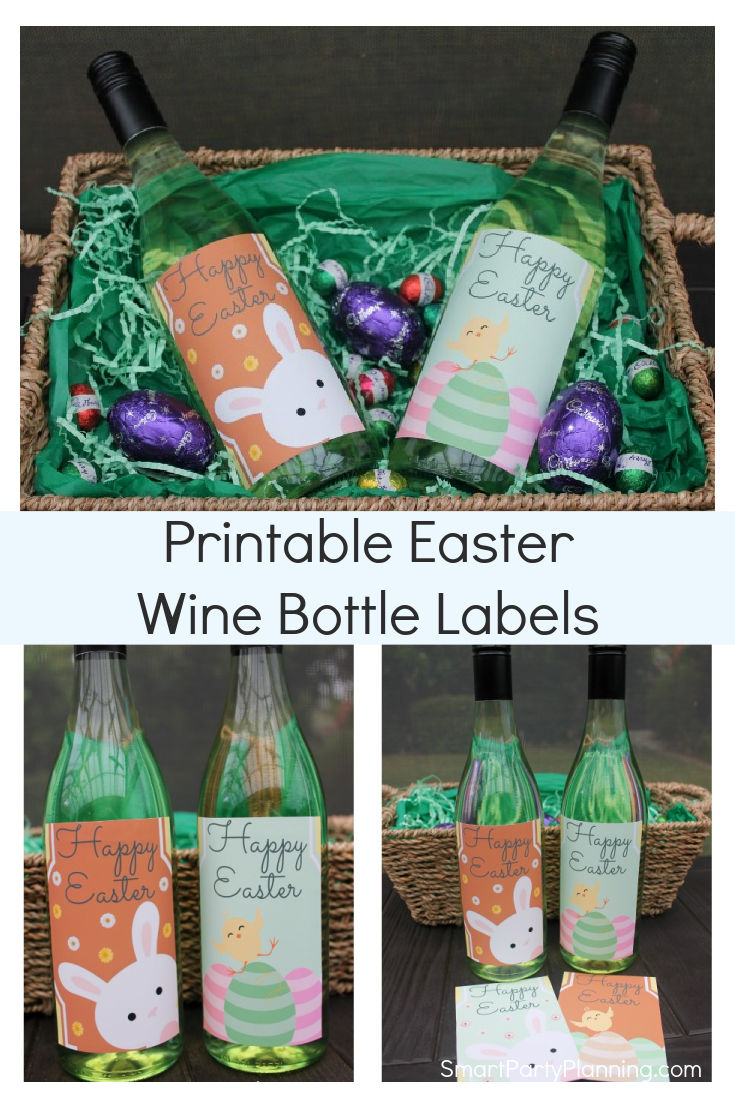 Printable Fun Easter Wine Bottle Labels