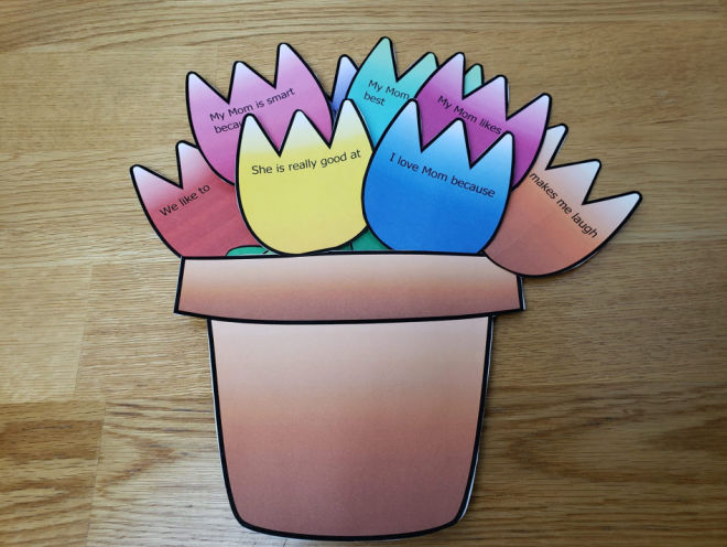 mothers day flower pot craft