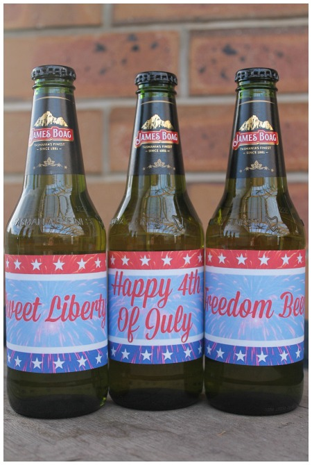 Happy 4th of July Beer Labels