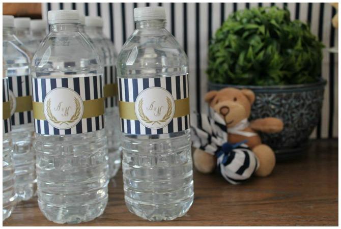 Teddy Bear Party Water Bottles