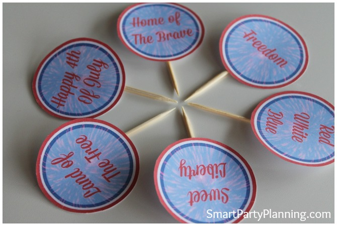4th of July party circles