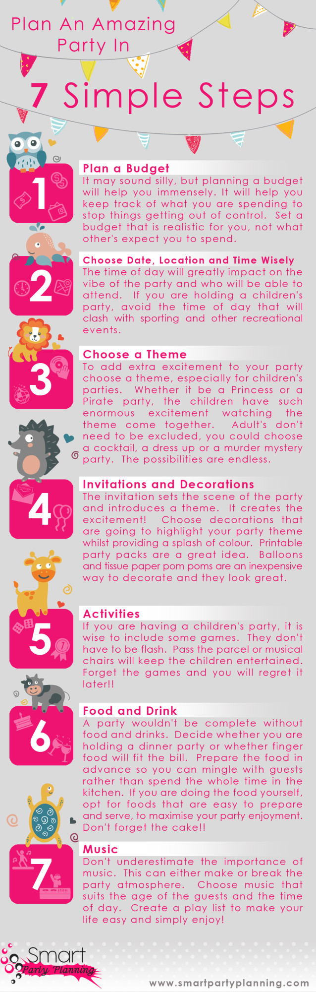 How to plan a party in 7 steps
