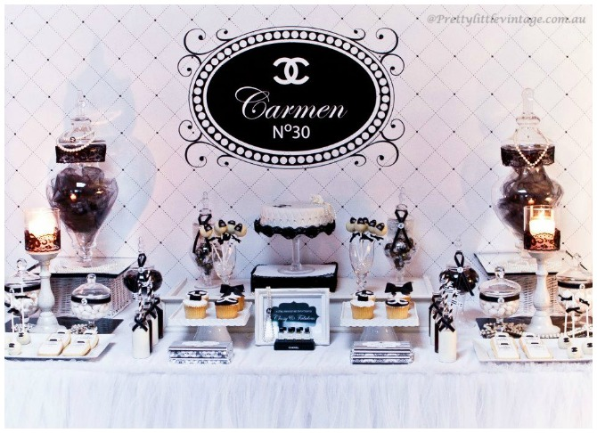 Chanel Inspired 30th Party