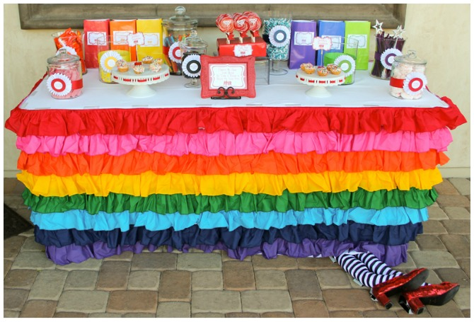 Wizard of Oz dessert table