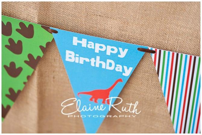 Dinosaur birthday party bunting