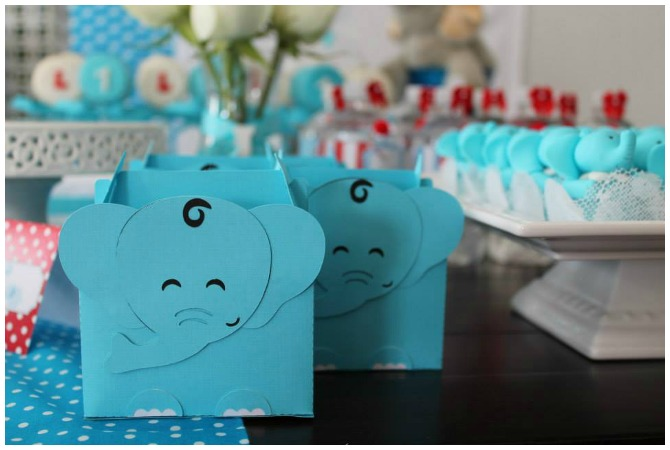 Elephant box with chocolate cookies