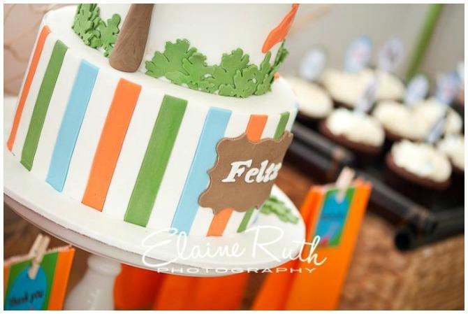 Close up of the Dinosaur Birthday Cake