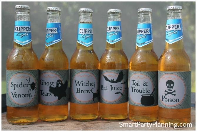 Halloween Beer Labels