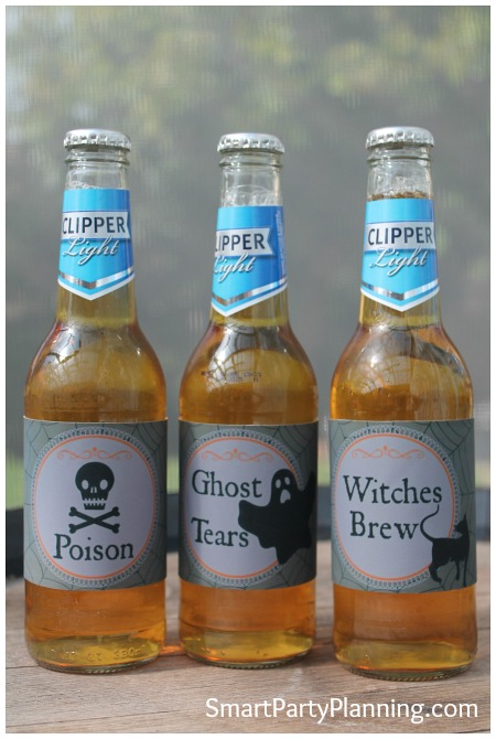 3 Halloween potion labels