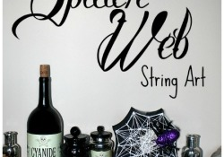 Spooky Spider Web String Art