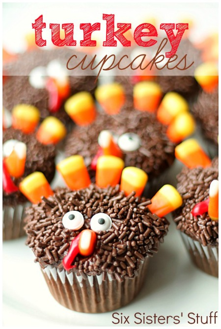 Fun thanksgiving turkey cupcakes for Fun and easy thanksgiving dessert recipes