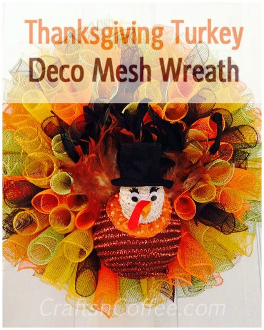 Deco Mesh Thanksgiving Wreath