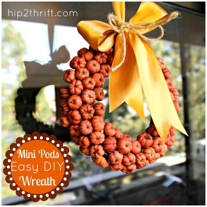 Pods Thanksgiving wreath