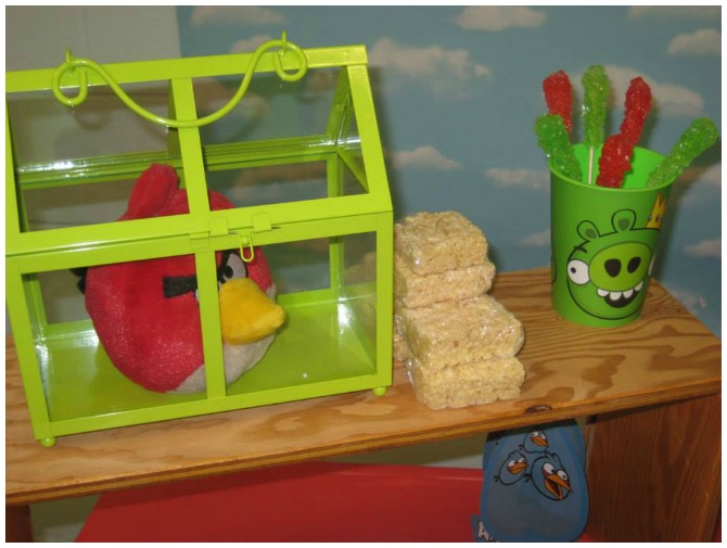 Angry Bird in a cage