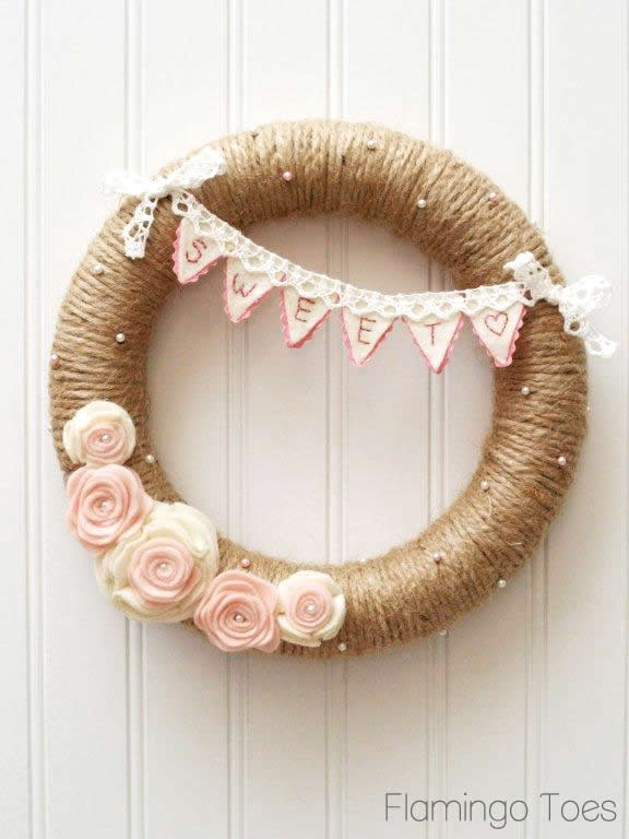 6 Valentine's wreath ideas that all have the elements of romance, and they all have their own uniqueness.