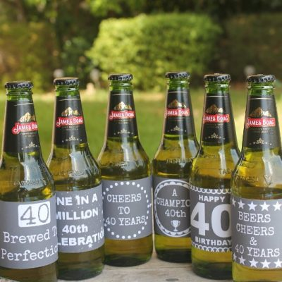 40th Birthday Beer & Wine Labels For The Perfect Easy Gift