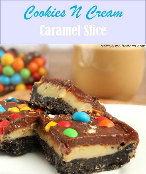 Cookies n Cream Caramel Slice