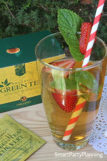 Glass of Iced Green Tea