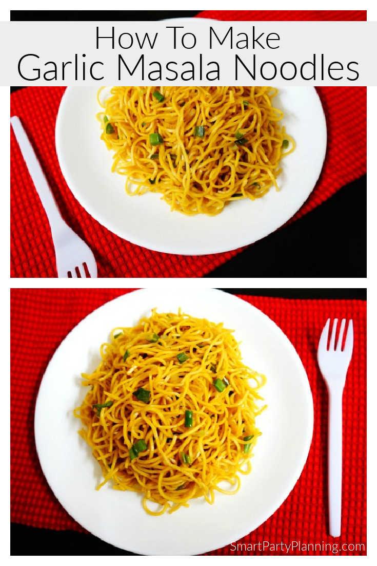How to make Garlic Indian Masala Noodles