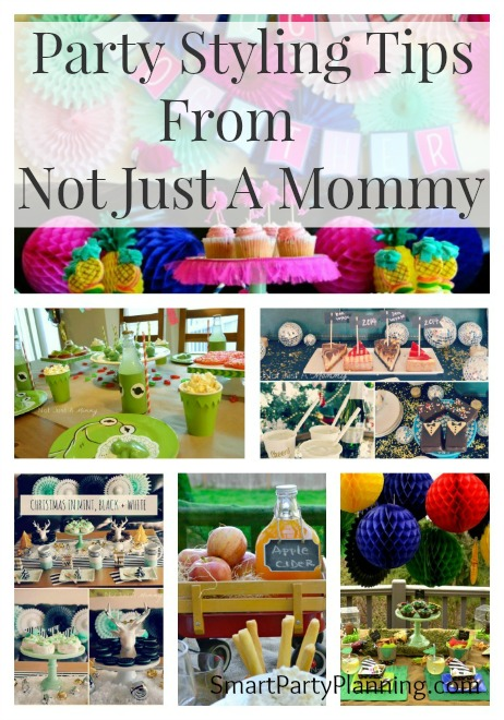 party styling tips from not just a mommy