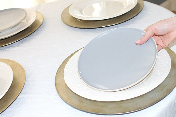 Place the plates in position