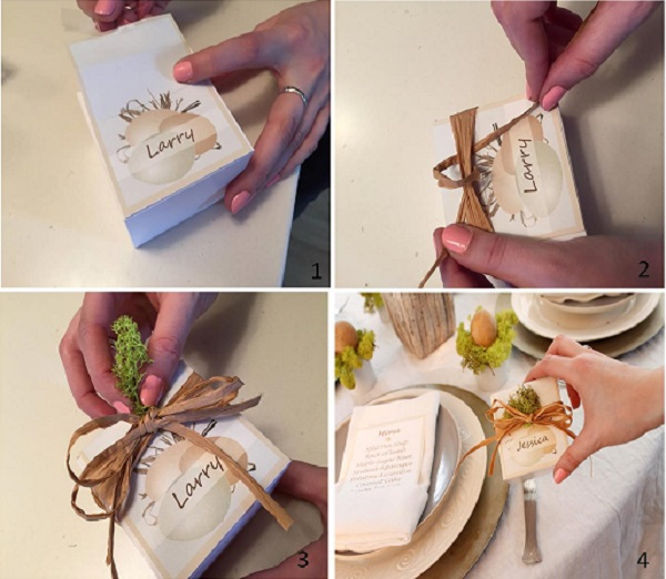 Name cards for an Easter table
