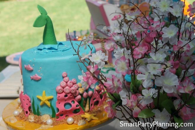 Mermaid Cake and Flowers
