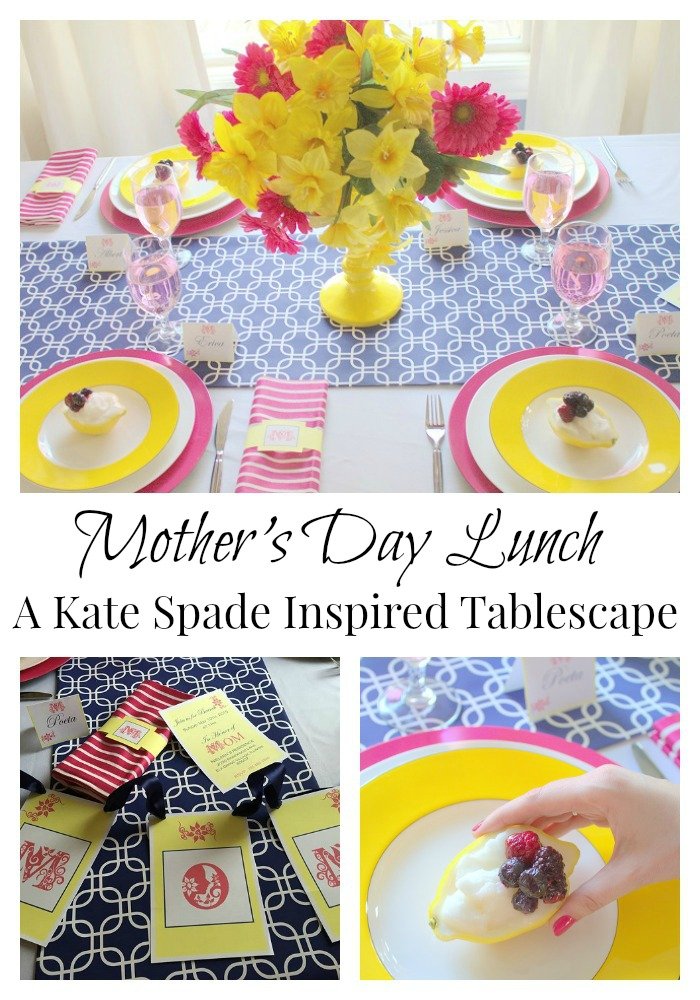 Mother's Day Lunch Tablescape