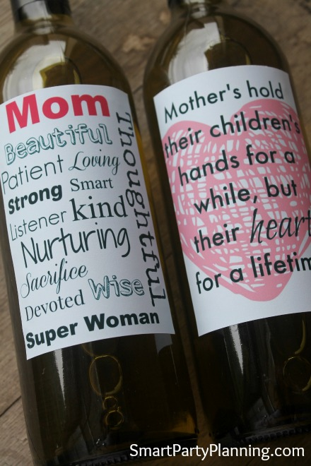 The Most Heartfelt Printable Mother S Day Wine Labels