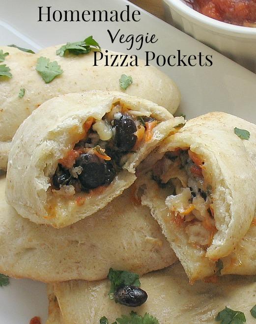 Homemade Veggie Pizza Pockets