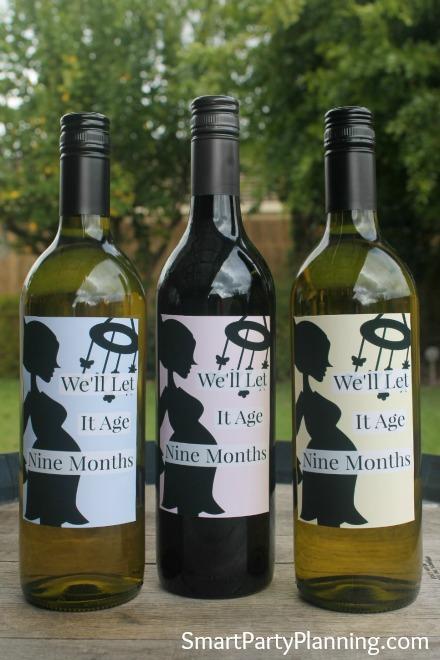 Baby shower wine label printables