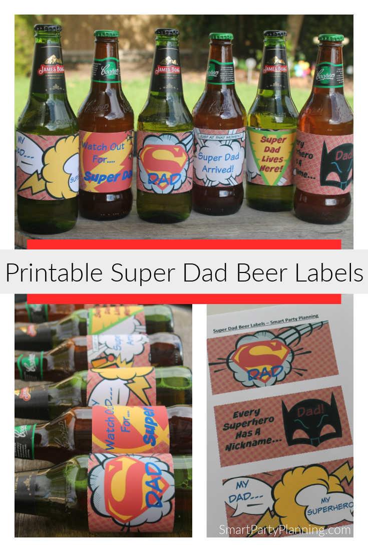 Super Dad Printable Beer Labels