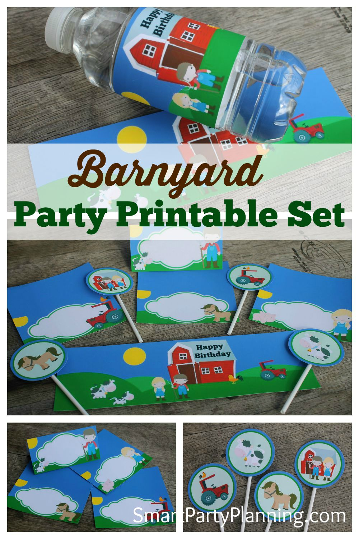 Barnyard Party Printable Set