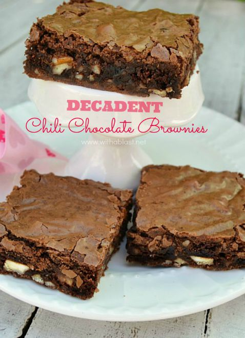 how to make chilli chocolate brownies