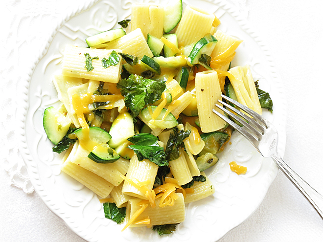 Easy Zucchini Kale Pasta